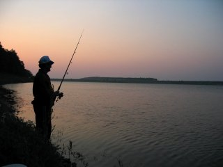 Fishing on Lake