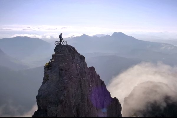 Danny McAskill on the Isle of Skye. Screenshot from The Ridge.