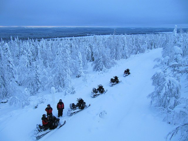 snowmobiles in russia