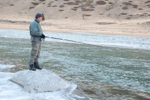 trout fishing winter