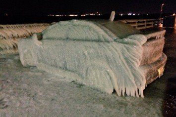 Man Wakes Up to Find His Car is Frozen