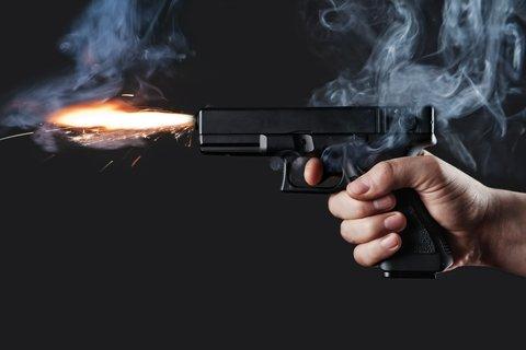 handgun fire
