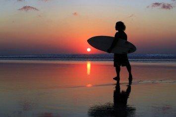 Night Surfing on the Northern California Coast