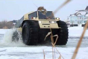 Russian ATV lets You Drive on Broken Ice