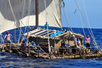 Crew Recreating South American Balsa Raft Journey Rescued Safely