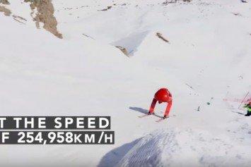 Watch Italian Skier Break World Speed Record