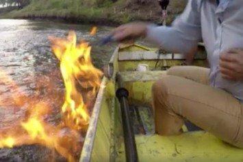 Australia Politician Lights River on Fire Near Fracking Site