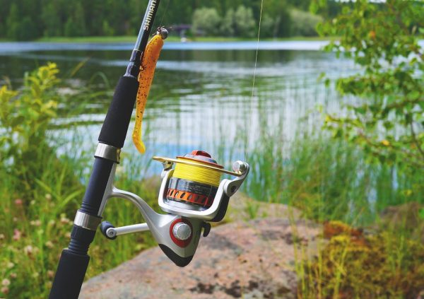 fishing reel yellow
