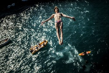Red Bull Cliff Diver Photo Strikes Christ-like Image