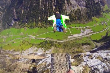 Wingsuit Pilot Crashes and Survives