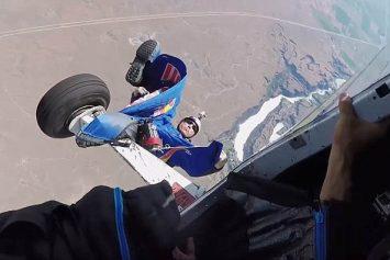 Skydiver Dangles From Cessna in Insane Red Bull Video