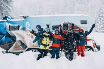 Snowboarding Crew Convert Fire Truck for Middle East Ski Tour