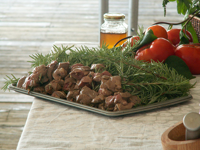 Rosemary sprigs for skewers